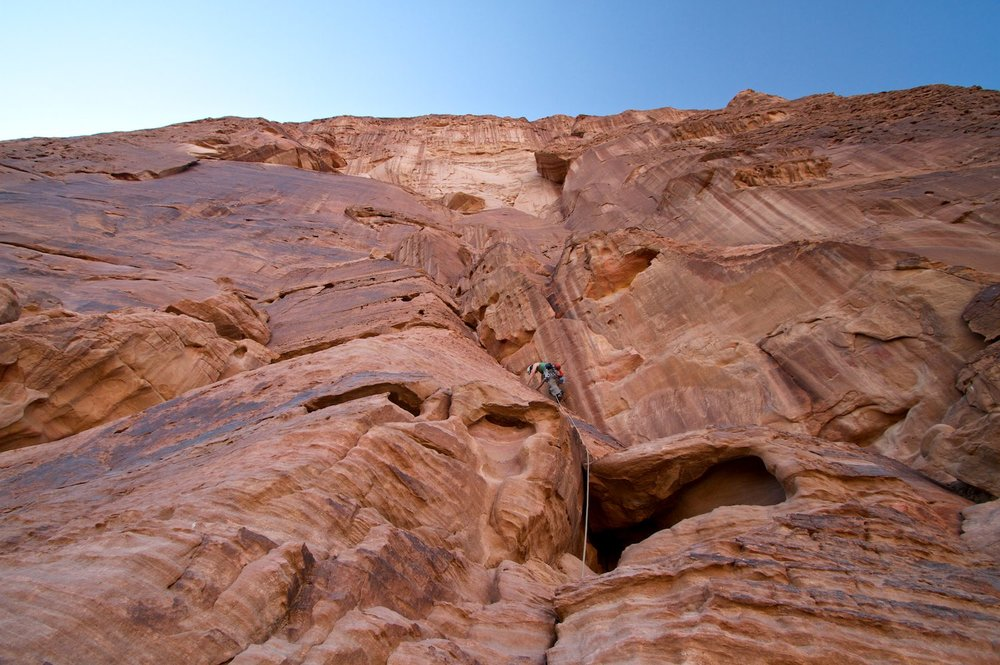 Climbing on Jebel Rum