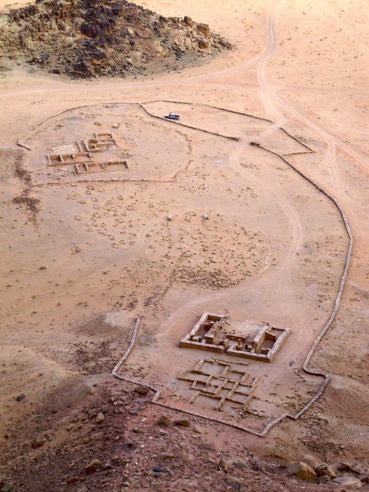 Nabataean ruins near Rum village