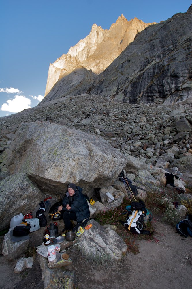 Advanced base camp established in the Tawa Valley