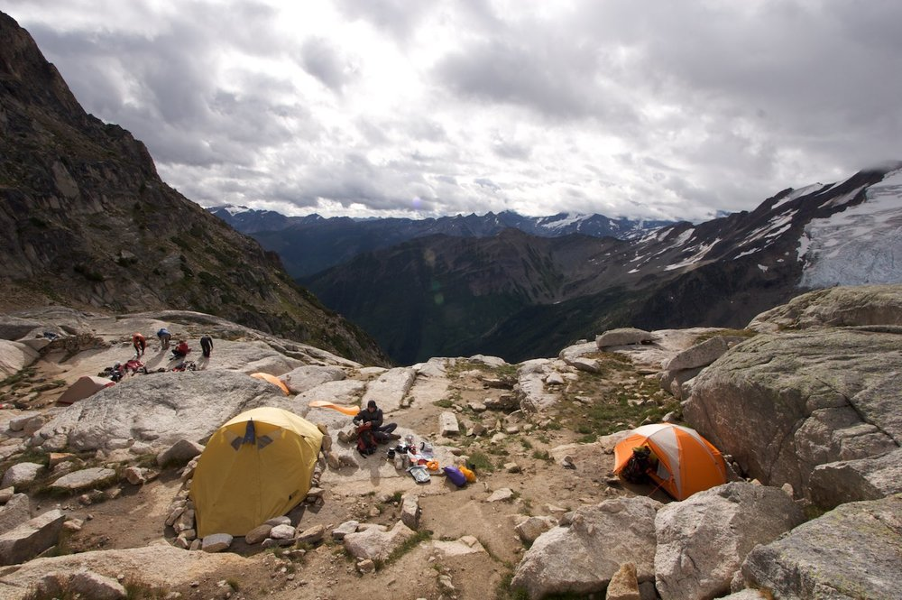 Applebee Campground in the Bugaboos