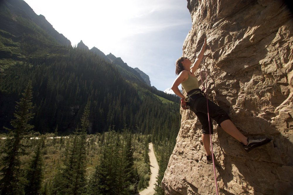Climbing at Lake Louise
