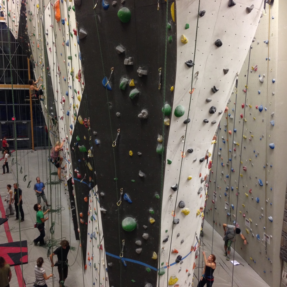 Impressive climbing gym in Canmore