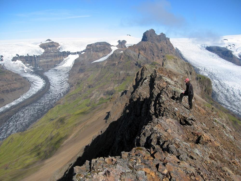 At Vatnajökull Glacier,Iceland's biggest glacier