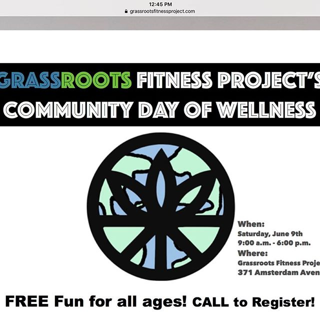 Excited to be a part of this event tomorrow June 9th, offering some free reiki between 11:30 - 12:45.  My spots are filling up but there are some awesome fitness classes to be a part of for both kids and adults, as well as a raffle with some great prizes.  Check out the Grassroots Fitness Project website.  Email grassroots@grassrootsfitnessproject.com or call 646-415-3972 to register. #grassrootsfitnessproject #propertyofgrfp #wellnessday #fitness #reiki #kids #familyfun #free
