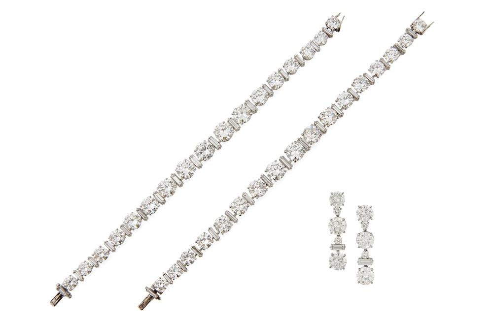 Boucheron Diamond Bracelets and Earrings