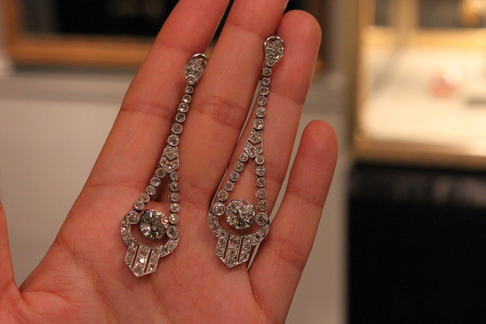 Kentshire Art Deco Diamond Earrings.JPG