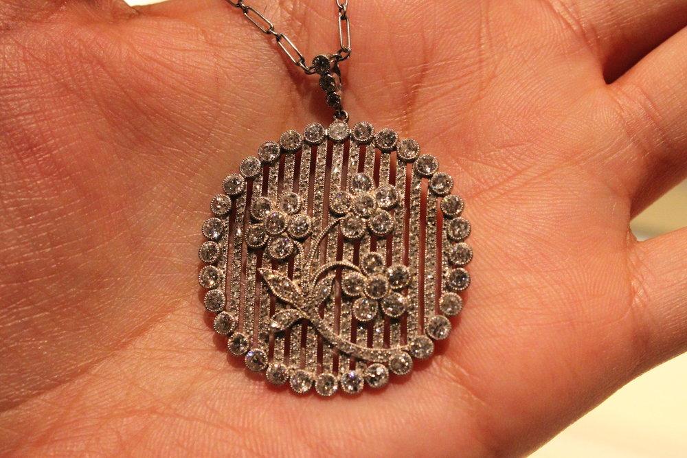 Wartski Floral Diamond Pendant.JPG