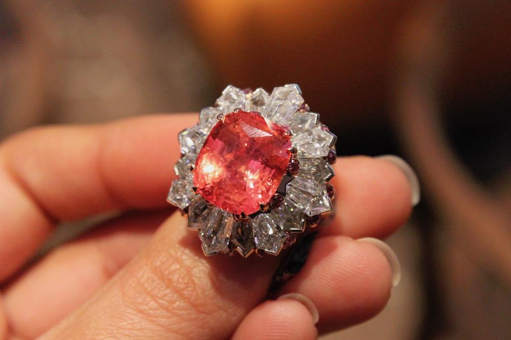David Morris Padparadcha Sapphire Ring