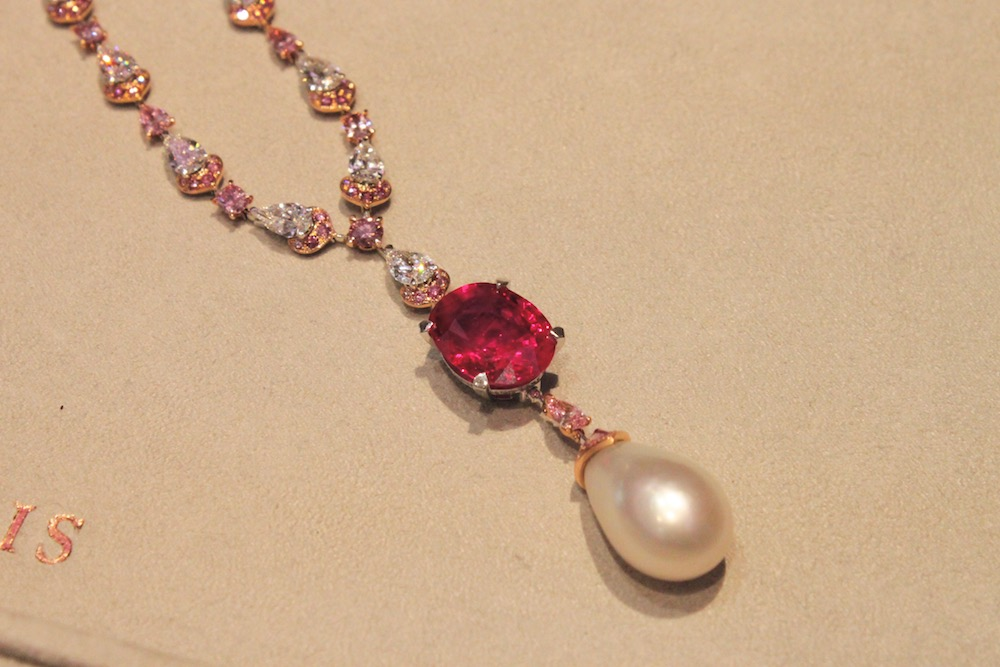 David Morris Ruby and Pearl Necklace