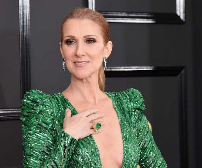 Celine Dion wearing Ndavi earrings.