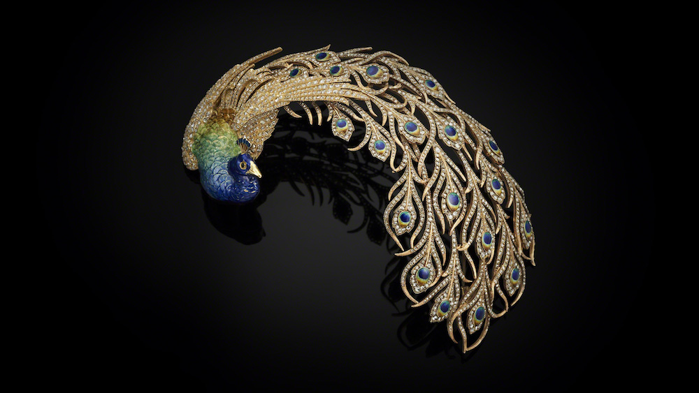 Peacock Aigrette, Mellerio dits Meller, Paris 1905. Image courtesy of the Al Thani Collection.
