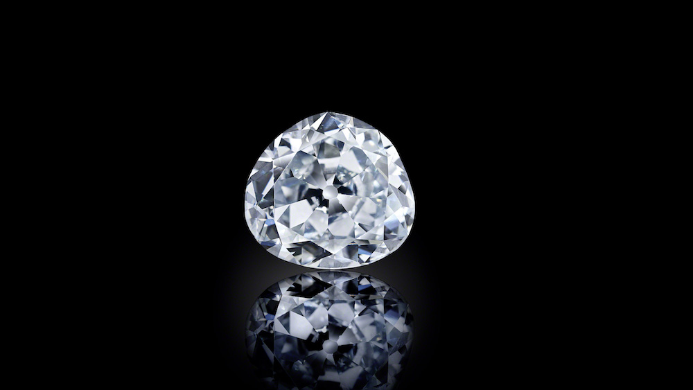 The Idol's Eye, 70.2ct, the world's largest cut blue diamond. Image courtesy of the Al Thani Collection.