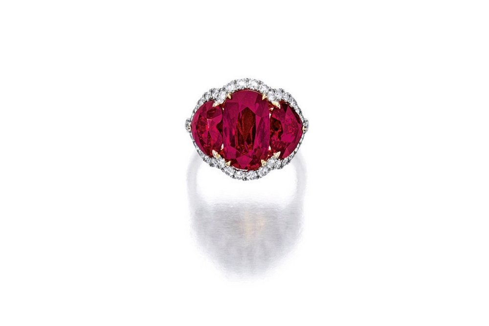 Lot 1693: Important Ruby and Diamond Ring