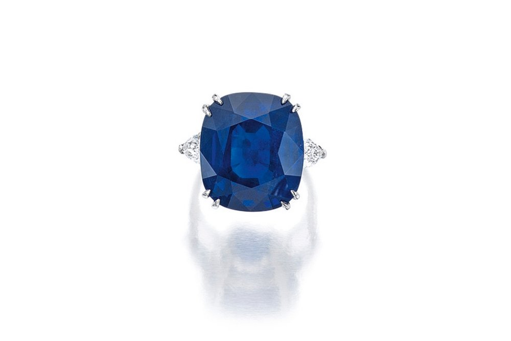 Lot 1656: Sapphire and Diamond Ring