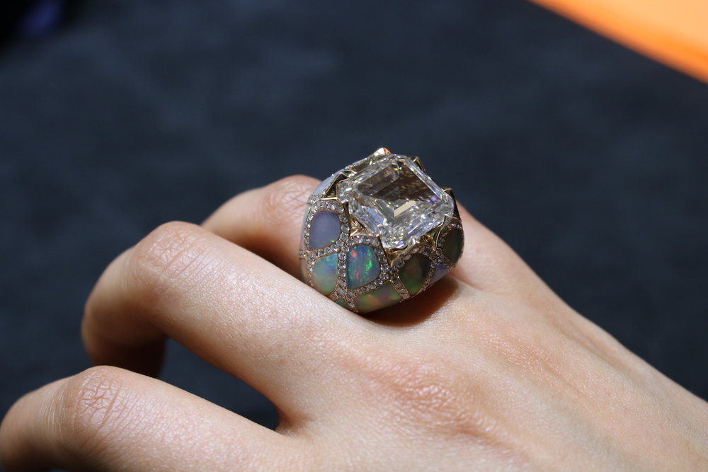 Picchiotti Diamond and Opal Ring (Koliero)