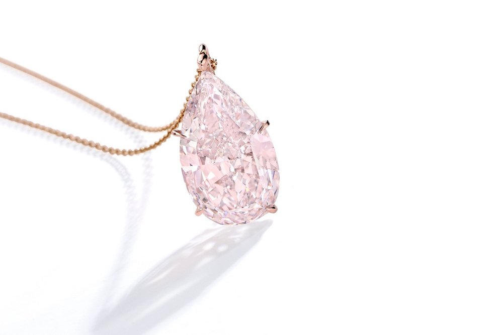 Lot 87: Important Rose Gold and Fancy Pink Diamond Pendant, Estimate 1,000,000 — 2,000,000