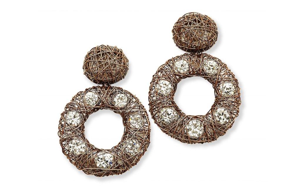 Hemmerle Gold Wire Earrings (Hemmerle)
