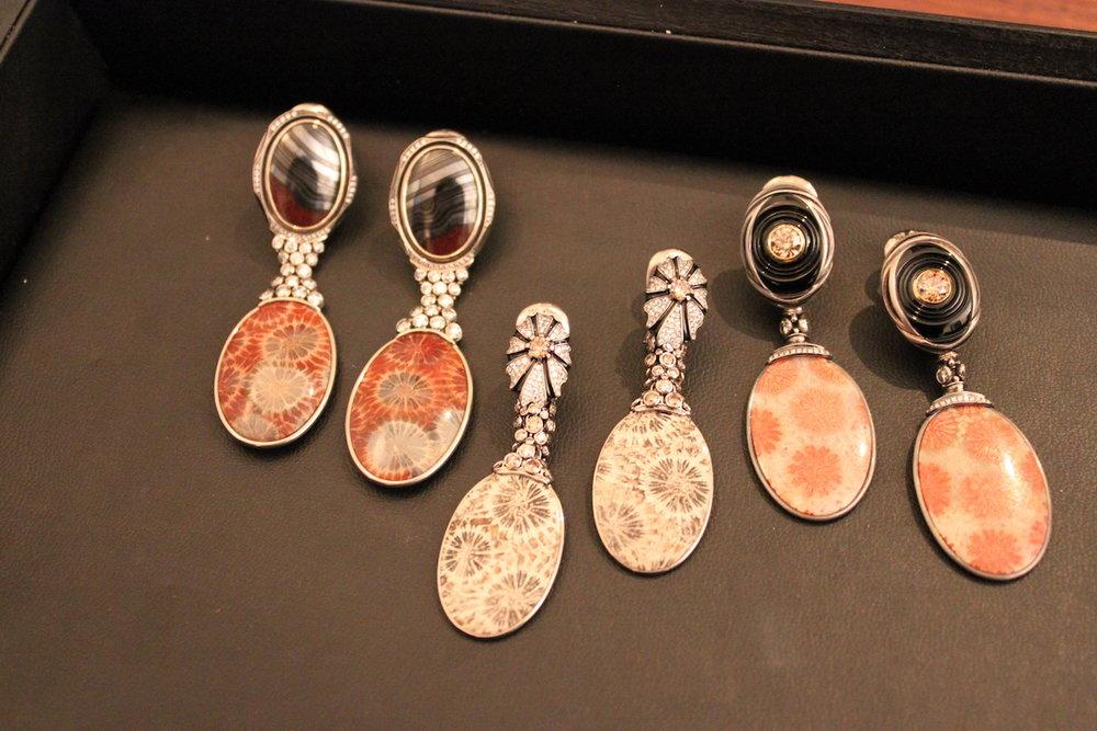Otto Jakob Fossil Coral Earrings (Koliero)