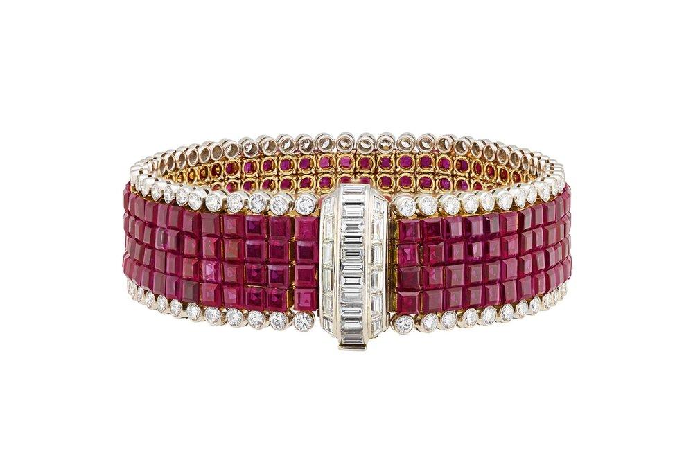 Van Cleef & Arpels ruby and diamond bracelet (1959)
