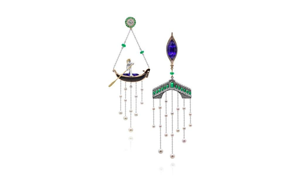 'Venice - Gondola' earrings