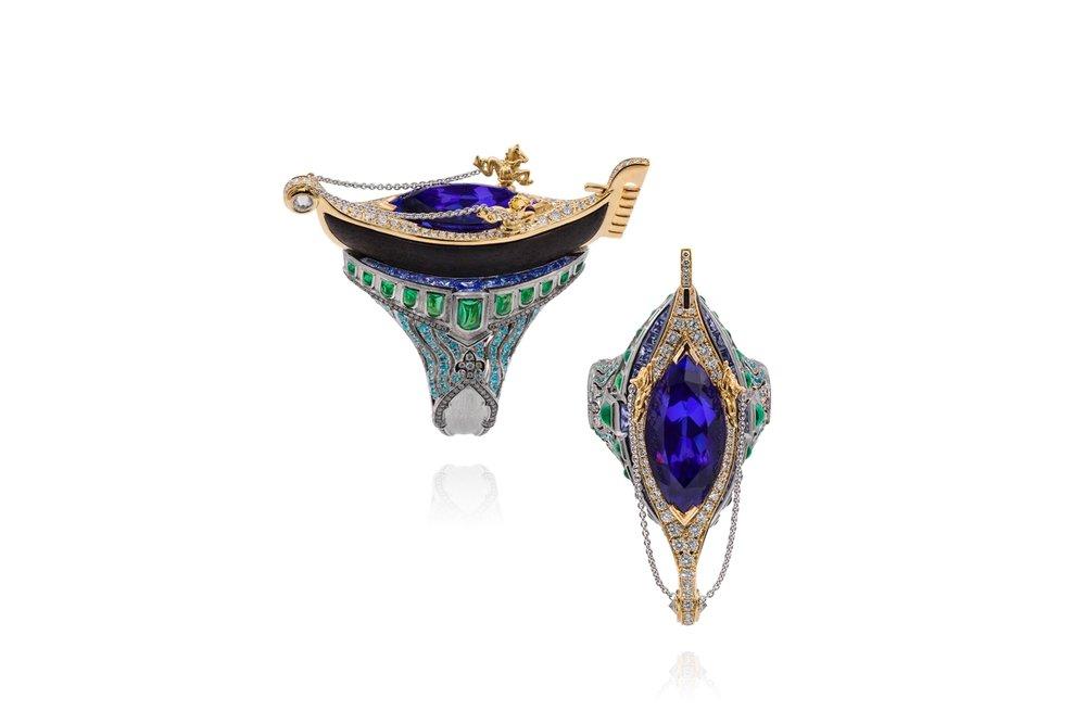 'Venice - Gondola' ring