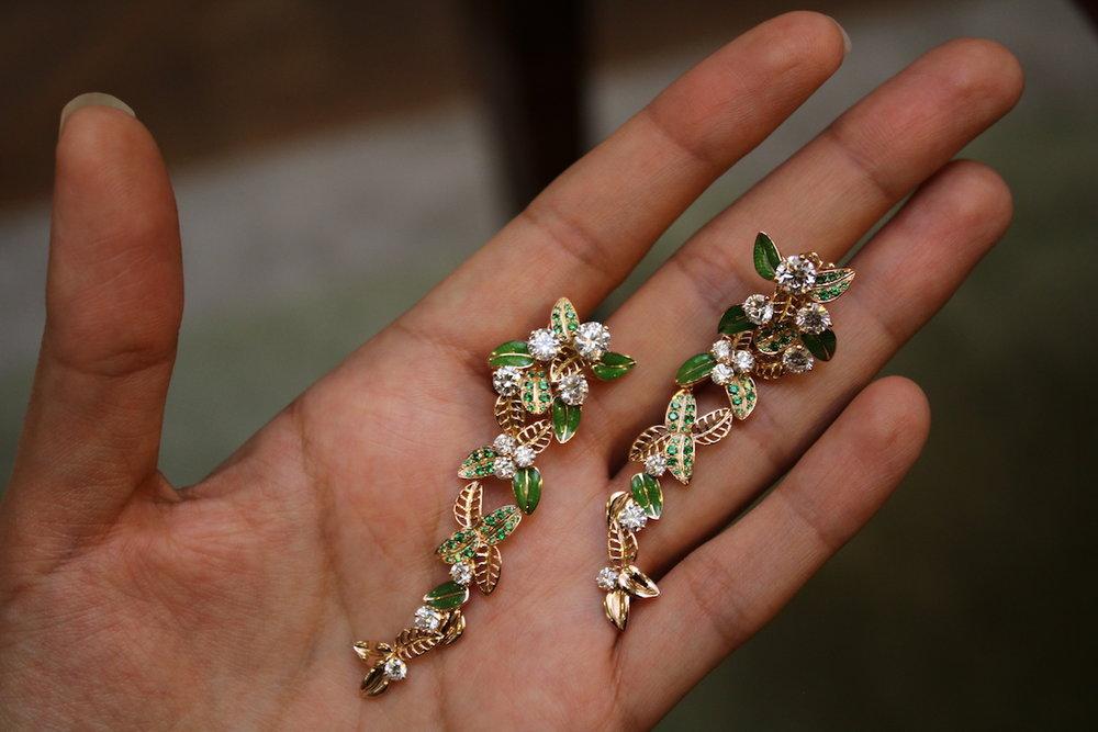 'Foglio' earrings