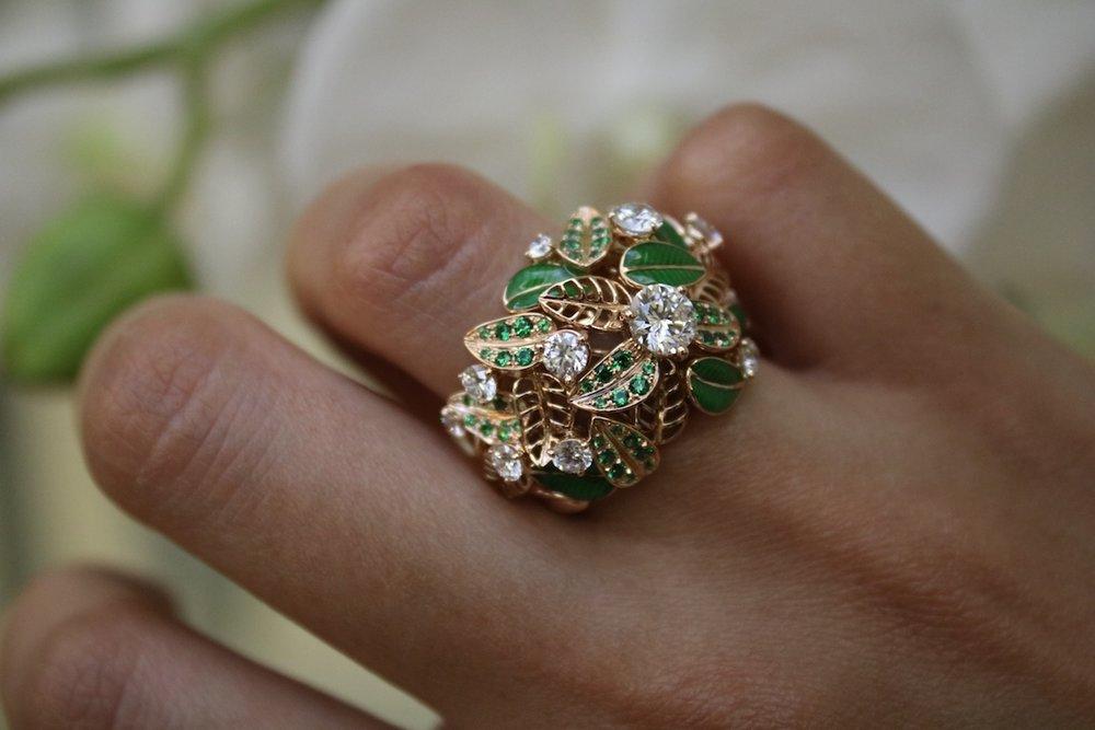 'Foglio' ring