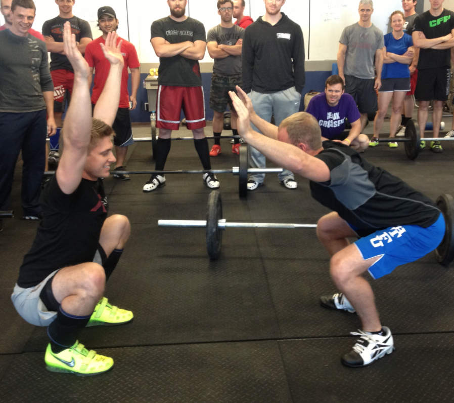 Which squat position looks most like yours? The person on the left has GREAT squat mechanics; upright torso, neutral head, knees behind toe line, hip crease below knee, majority of the bodyweight towards the heels.The person on the right has NOT SO great mechanics; chest facing the floor, poor shoulder position, cannot get hips below parallel, majority of bodyweight in the ball of the foot...etc.