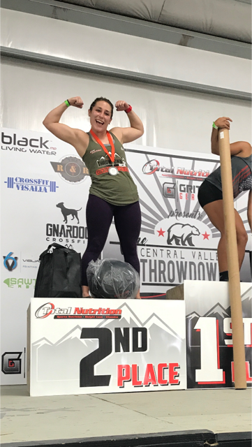 Emily Wicklund takes the 2nd place podium finish in the Women's Scaled Division at her first competition.