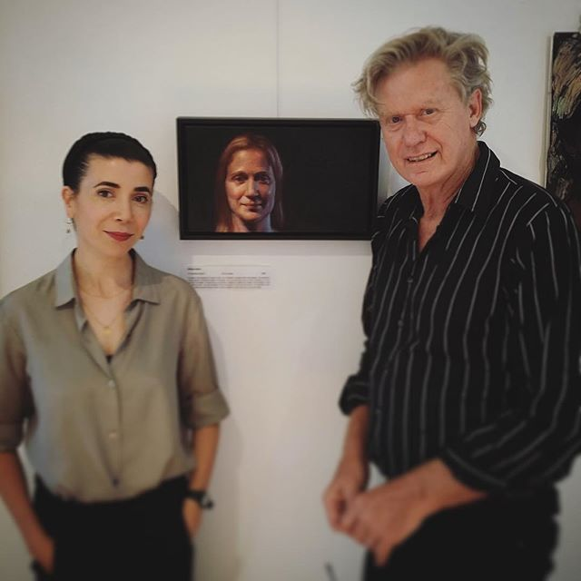 Judges Yvette Coppersmith and Goodwin Bradbeer. Photo courtesy of Cambridge Studio Gallery.