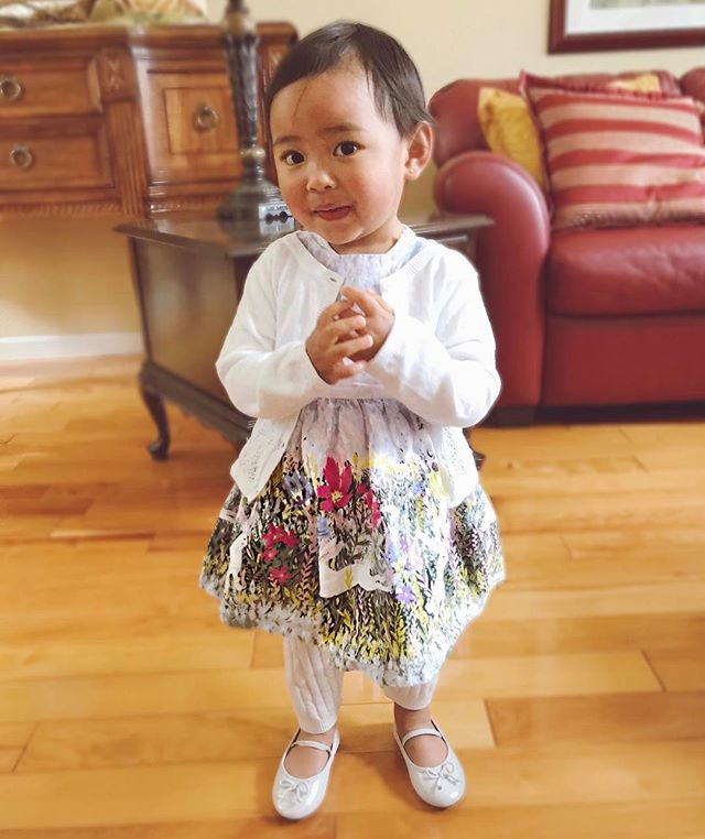 Happy Easter from our little bunny! (Who refused to wear her ears 😅) Thank you for the perfect Easter dress Ninang @joanna.u