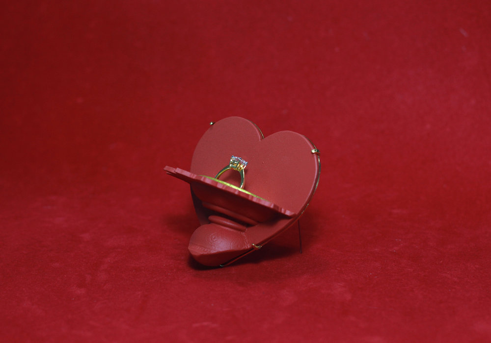 Will you marry me, again? (heart), Brooch, 2017, Thai traditional wedding tray