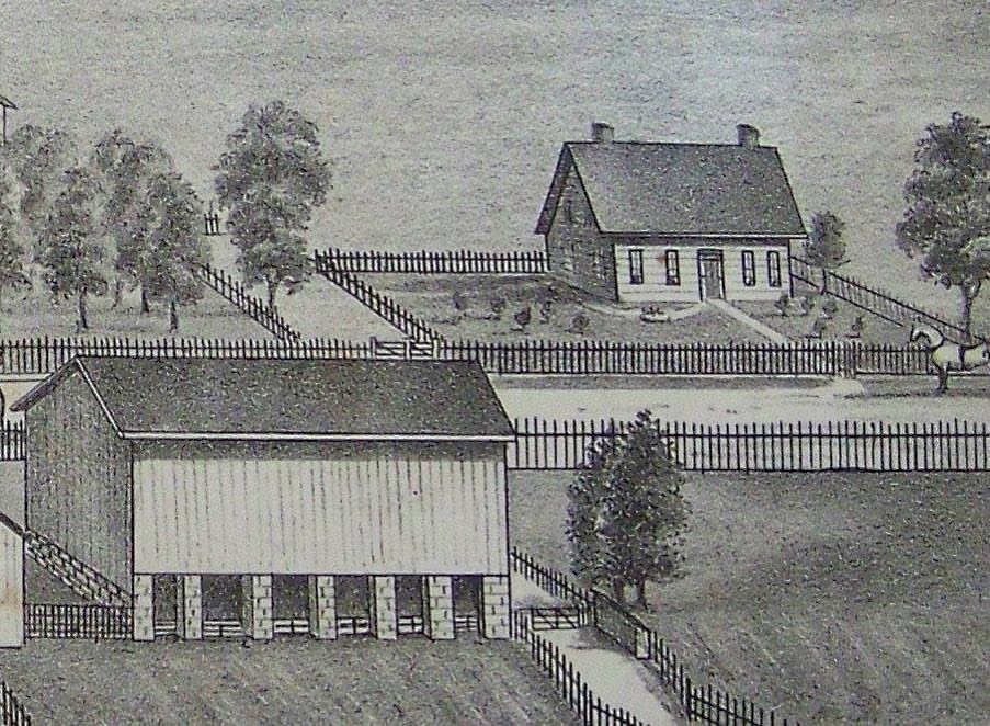 1877 print featuring the small house