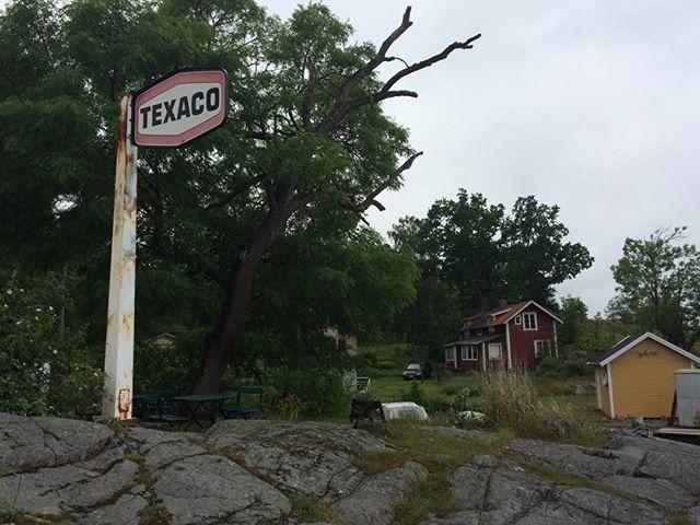Texacoskylten vid Boda brygga borde K-märkas.