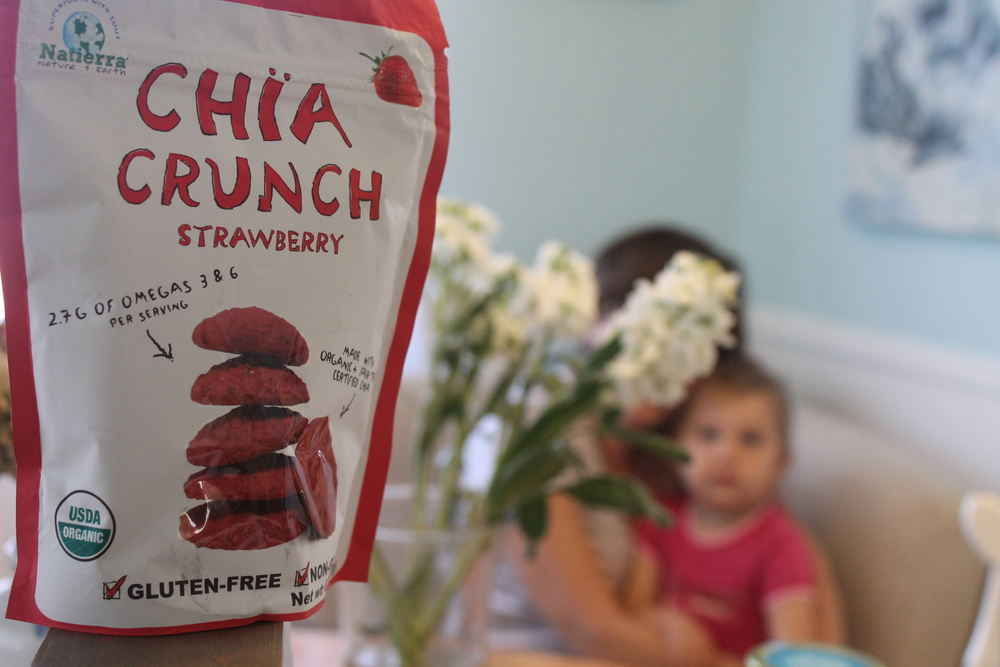 "10.  Chia Crunch   (Find them for 10% off  HERE  ~ just search ""chia crunch"")   I love the original freeze dried organic strawberries that Natierra makes. They are our go to (back up) snack for long plane rides! As most of our family is back in NJ and many of my clients back in NYC. It's such a treat for my girl that it will entertain her for the last hour of a flight! And now, they've combined them with CHIA for a little added bunch and nutrients. These were actually ""toddler tested"" today to make sure she loved them as much as the original!"