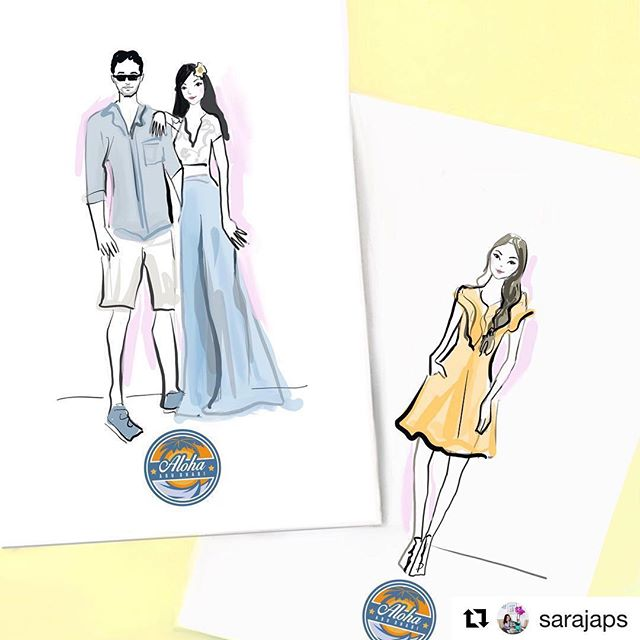 Can't wait habibti for you to come! ——— Come and take your live illustration right here! Free of charge! ——— #Repost @sarajaps with @get_repost ・・・ Beach vibes! 🏝 Can't wait to draw live illustrations tomorrow for @alohaabudhabi - I'll be there 5-7pm stop by for a sketch!