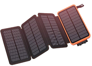Solar panel charging. (£37)