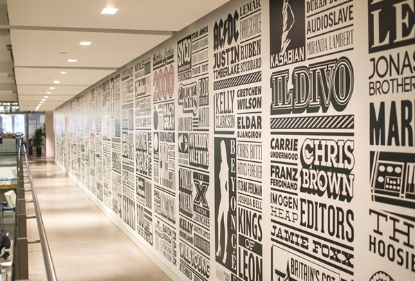 Typographic wall