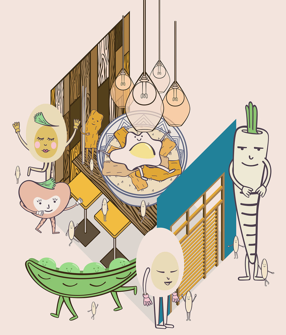 Restaurant Review Illustrated: Oishinoya in Paris.
