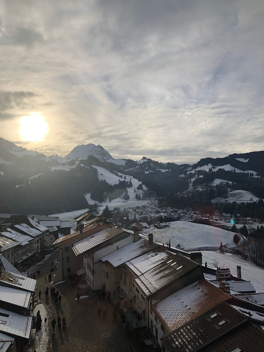 View from the HR Giger museum in Switzerland