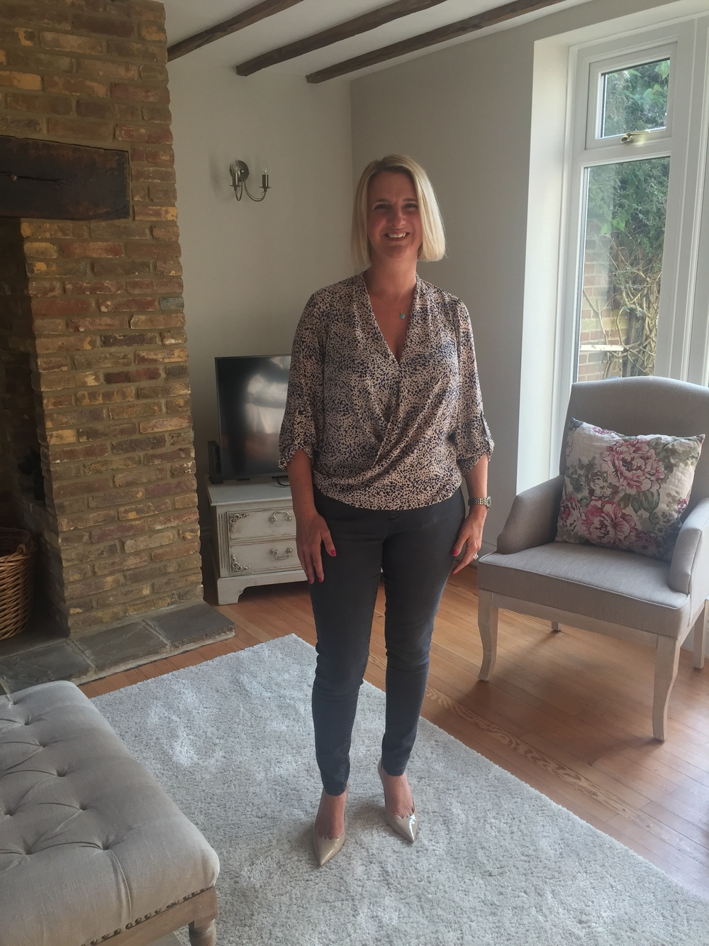 Top from Dorothy Perkins, Jeans - Eden jeggings from Dorothy Perkins , Shoes - nude Agnes by Jimmy Choo
