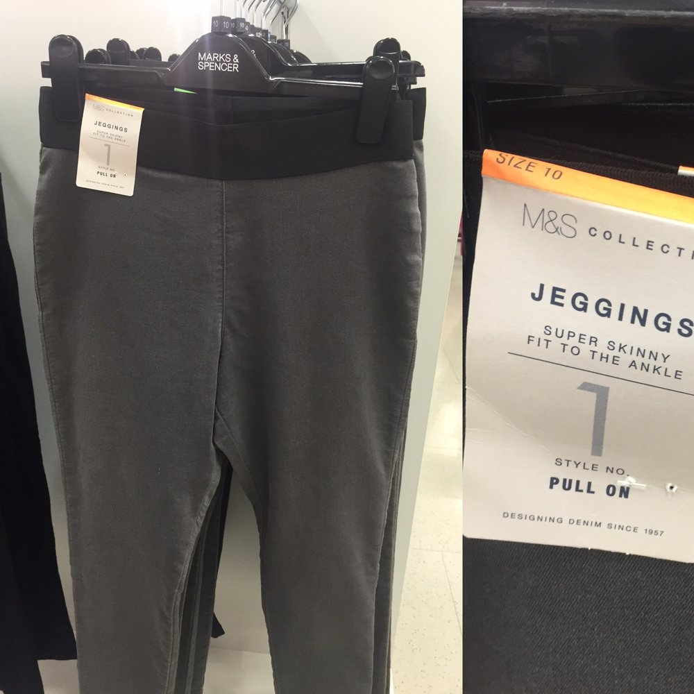 Marks and Spencer have a range of super soft jegging in various colours too.