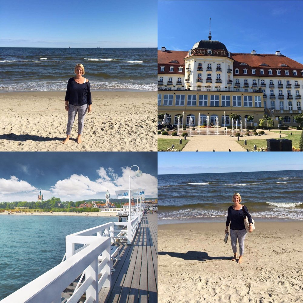 Sopot is a spectacular seaside resort, one day I'd like to stay at the Grand hotel (pictured), it's stunning, but for now we had to make do with a day trip, at only 7 and a half miles from Gdansk it's a very doable trip out. The pier is well worth a trip too.  Top from Hollister, Vest from M&S, trousers from DP's