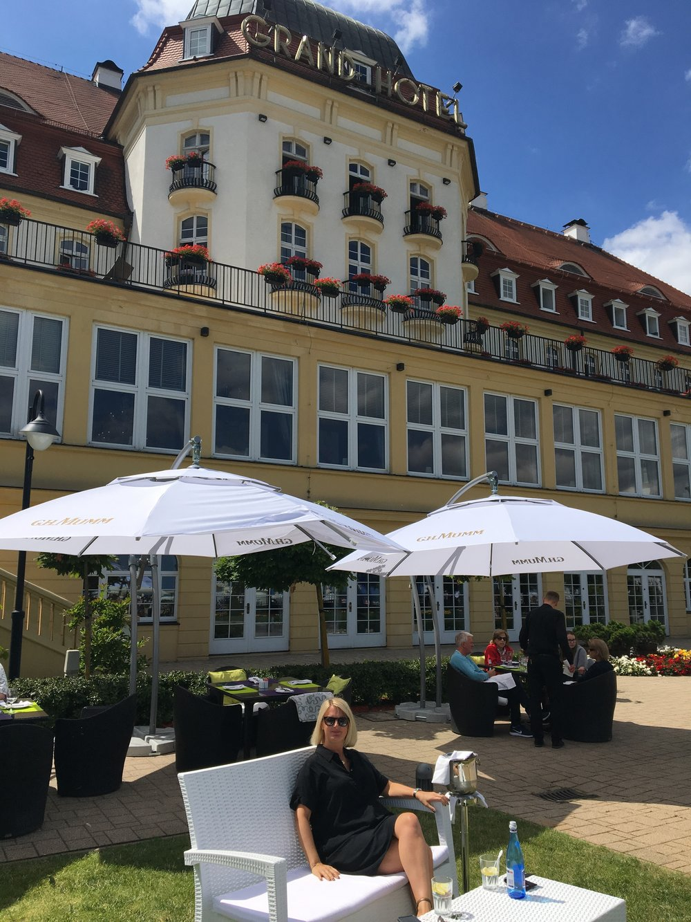 The Grand Hotel in Sopot is the perfect spot for relaxing and people watching.