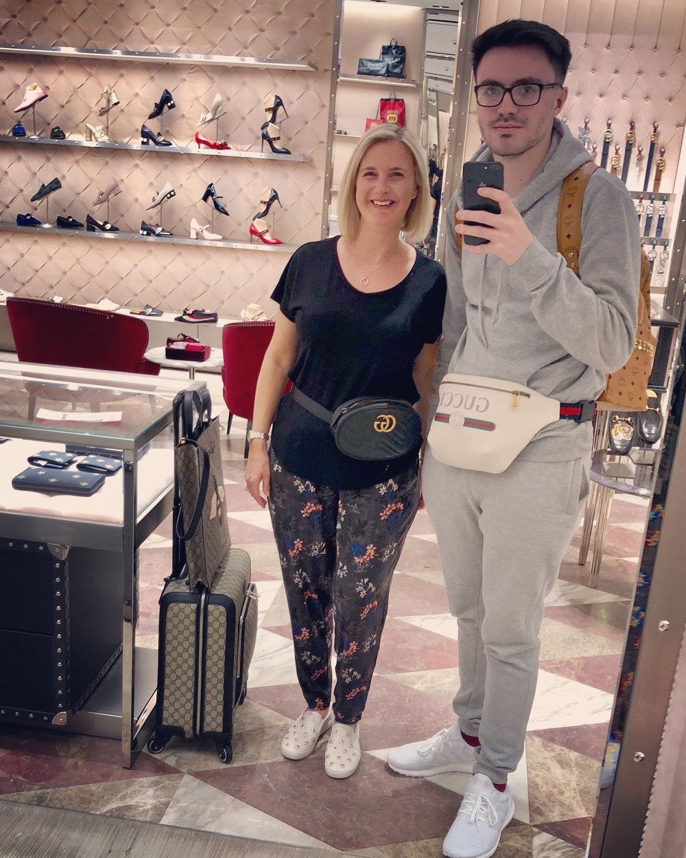 Ben and I enjoying a little retail therapy in Heathrow Terminal 3.