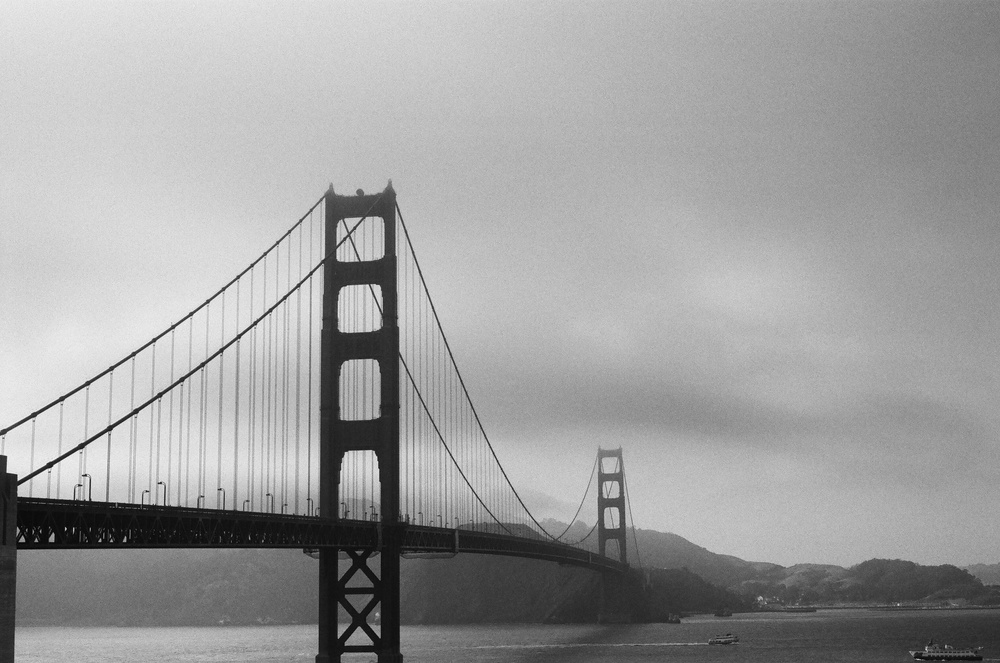The Golden Gate Bridge | San Fransisco, CA | Taken with Nikon F3 | Ilford HP5 Plus (Film)