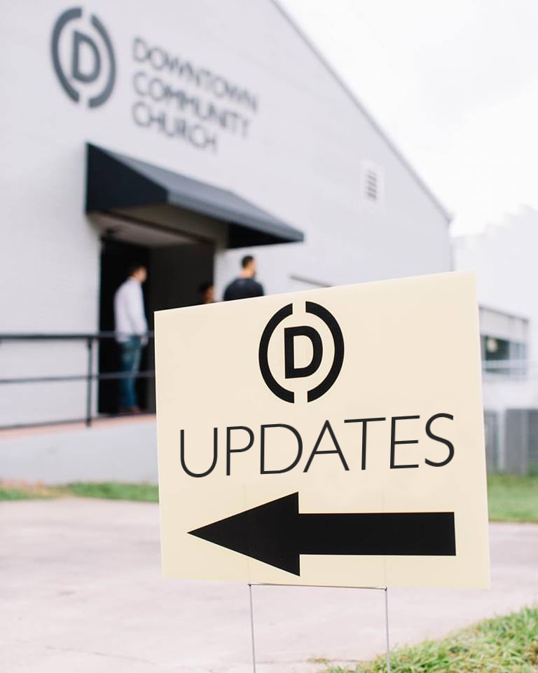 July/August/September 2018 Update - God is so GOOD! To see the impact he's had on so many peoples lives through DCC over the years and continuing into this year is amazing! Our church has grown from a small bible study starting in 2012 to over 700 people a Sunday in 2018! With this continual growth we are constantly working on ways to continue to be as welcoming and genuine as possible because we believe community within the congregation is necessary in ones walk with Christ.Over the past few months we have been doing a ton of renovations and design changes within the building to aid in welcoming more people into a environment that can help foster Christ centered life change. I have the pleasure in using the gifts God gave me to create and design so much of our building. This included updating our coffee bar, reworking our Connect Desk where people can learn how to get more involved, create a prayer wall, and change up our stage design. Now we are currently working on updating some of our kids space. Our congregation is full of students who may not be able to provide financially but are always willing to serve with their time. With this willingness and faith, God has always provided when we need to grow and change. We've had more people volunteering as interns, more staff coming aboard by fundraising, and even hired a needed women discipleship leader.One thing I've enjoyed the most over the past year is the community group my roommate and I have been leading over the past year. We get to build community with guys who have a desire to follow God and be accountability to each other in growing our faith.I ask that as I continue working for DCC you will continue praying for not only myself but for the church and the community around it also. If you feel lead to help continue supporting me you can click the support button below to give a one time gift or set up a reoccurring monthly donation. As always, if you have questions or would like to reach out to me, you can find