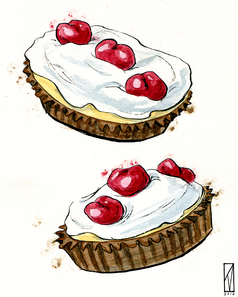 illustration for Daniela Galarza's  You Should Order Every Single Dessert on the Menu , up on Eater.