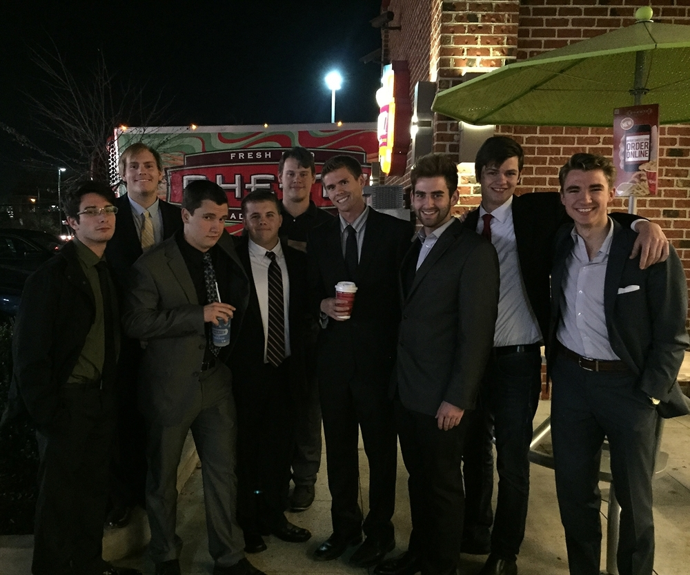 I've borrowed this lesson from Dan and adapted it for my own leadership team each year I've been an RA. Here is a very young looking group from 2014. I'm the third guy from the left with the drink with a straw. Real men drink from straws.