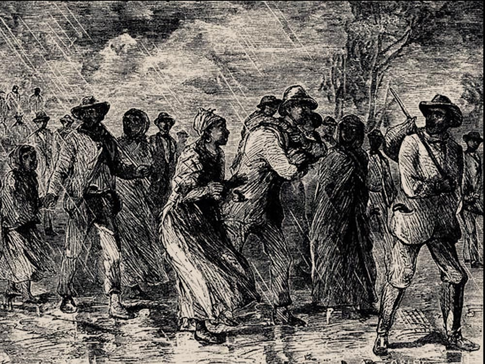 "Escaping slavery through the ""Underground Railroad"""